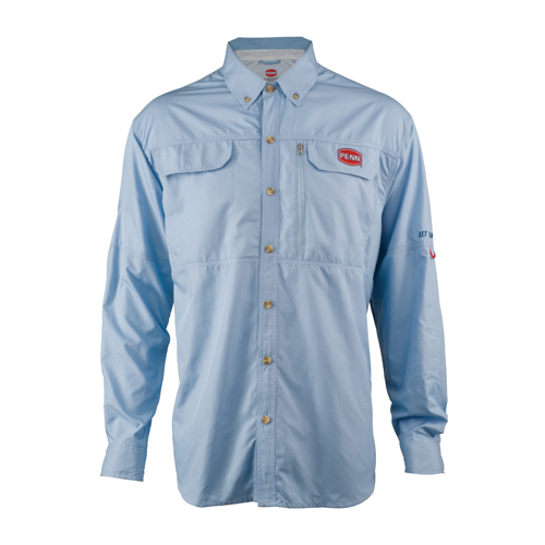 Penn Vented Performance Long Sleeve Shirts, Blue