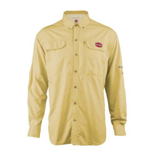 Penn Vented Performance Long Sleeve Shirts, Yellow